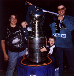 Us with the Stanley Cup